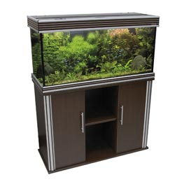 Wave: Design 100 170 Liter Wenge Aquariumkombination