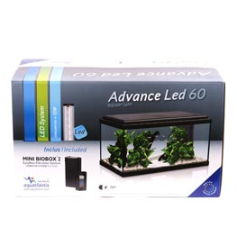 Aquatlantis: Advance LED 60 schwarz 54 Liter Maße 60x30x30