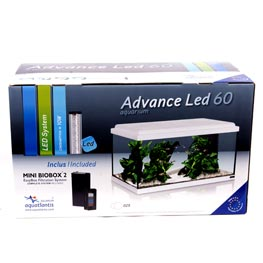 Aquatlantis: Advance LED 60 weiß 54 Liter Maße 60x30x30