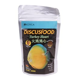 Exotica: Discusfood Turkey Heart Granulat Soft  80 g