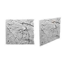 Back to Nature Slim Line White Limestone Rückwand 50A  50x45cm