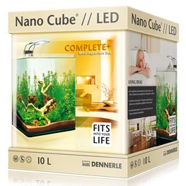 Dennerle: Nano Cube Complete + LED 10 Liter