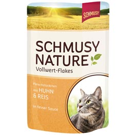 Schmusy: Schmusy Nature Vollwert-Flakes Huhn & Reis  100 g