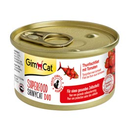 GimCat Superfood ShinyCat Duo Thunfischfilet mit Tomaten  70g