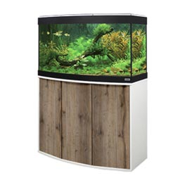 Fluval Aquarium Kombination Vicenza 180 LED weiß / eiche