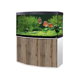 Fluval Aquarium Kombination Vicenza 260 LED weiß / eiche