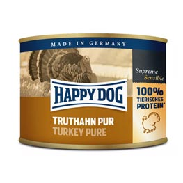 Happy Dog Truthahn Pur Hundefutter Dose 200g