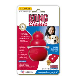 Kong Hundespielzeug Classic S rot  7cm