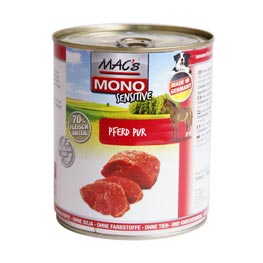 Macs Mono Sensitive Pferd Pur  6x800g