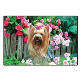 Plenty Gifts Dekorative Fussmatte Yorkshire Terrier 68,5 x 47,5 cm