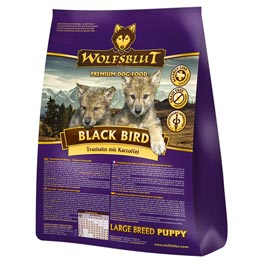 Wolfsblut Black Bird Puppy Large Breed Truthahn mit Süßkartoffel Trockenfutter  2kg