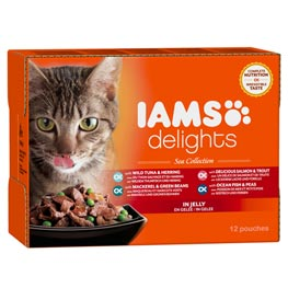 IAMS Delights Multibox Sea Collection  4x3x85g
