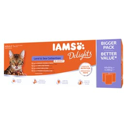 IAMS Delights Multibox Land & Sea Collection 4 x 12 x 85g