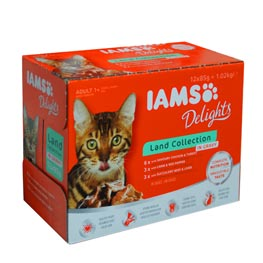 Iams Delights Land Collection in Sauce  12x85g