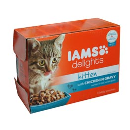 IAMS Delights Multibox Kitten mit Huhn in Sauce   12x85g
