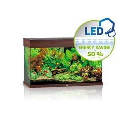 Juwel Rio 125 LED Aquarium Set  dunkles Holz