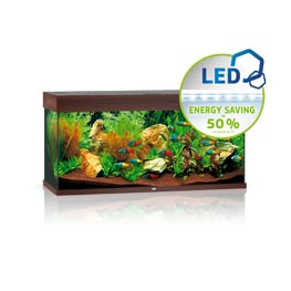 Juwel Rio LED 180 Aquarium Set  dunkles Holz