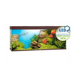 Juwel Rio LED 450 Aquarium Set dunkles Holz
