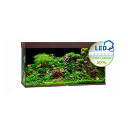 Juwel Rio 350 LED Aquarium Set dunkles Holz