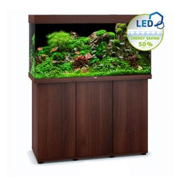 Juwel Rio LED 350 SBX dunkles Holz Aquariumkombination