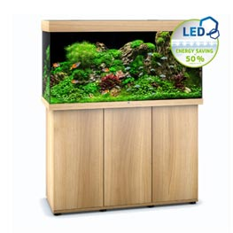 Juwel Rio LED 350 SBX helles Holz Aquariumkombination