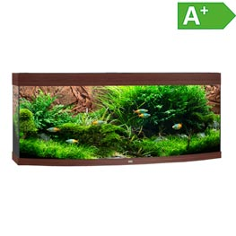 Juwel Vision 450 LED Aquarium Set dunkles Holz