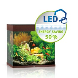 Juwel Lido 120 LED Aquarium Set dunkles Holz