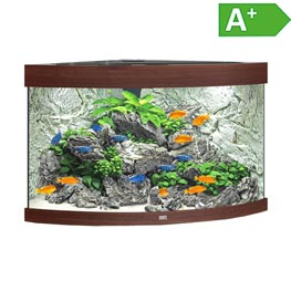 Juwel Trigon LED 190 Aquarium Set  Dunkles Holz