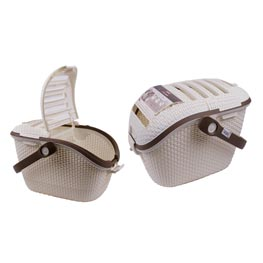 Katzentransportbox Curver: Transportbox Petlife Carrier beige 53 x 37 x 33 cm