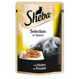 Sheba Nassfutter Selection in Sauce mit Huhn  85g