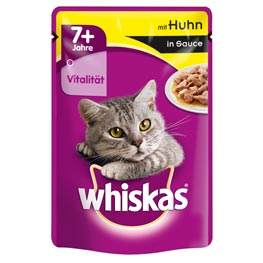 Whiskas Nassfutter 7+ mit Huhn in Sauce  100g