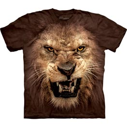 The Mountain T-Shirt Big Face Roaring Lion  M