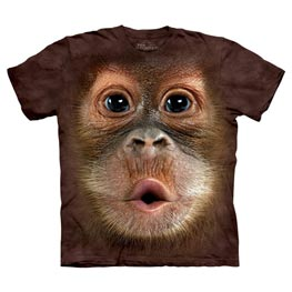 The Mountain T-Shirt Big Face Baby Orangutan  M