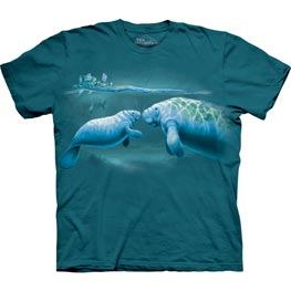 The Mountain T-Shirt Year of Manatee  L