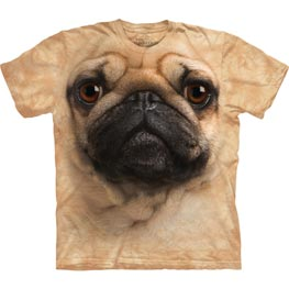 The Mountain T-Shirt Pug Face  XXL