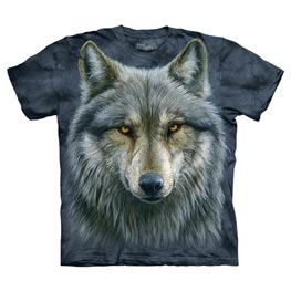 The Mountain T-Shirt Warrior Wolf  L