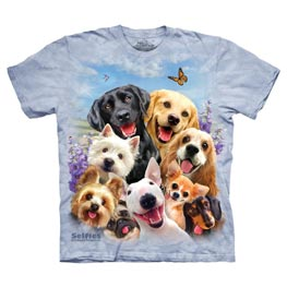 The Mountain T-Shirt Dog Selfie  S
