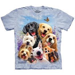 The Mountain T-Shirt Child Dog Selfie  L
