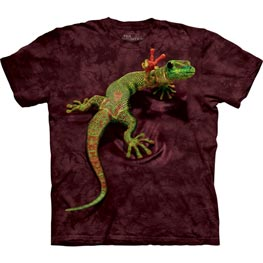 The Mountain T-Shirt Child Peace out Gecko  L