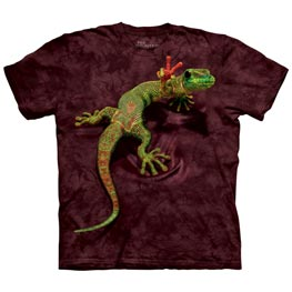 The Mountain T-Shirt Peace Out Gecko  4XL