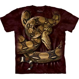 The Mountain T-Shirt Boa Constrictor Squeeze  L
