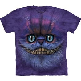 The Mountain T-Shirt Big Face Cheshire Cat  L