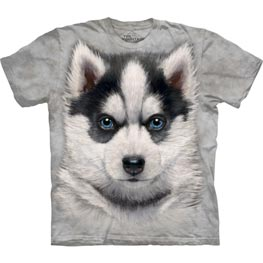 The Mountain T-Shirt Siberian Husky Puppy  L