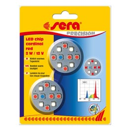 Sera: LED Chip Cardinal Red 2 Watt  2 Stk.
