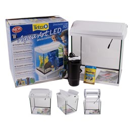 Tetra: AquaArt LED Discover-Line White Edition Aquariumkomplett-Set 30 Liter