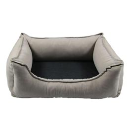 Hundebett: Wolters Cat & Dog Lounge Noble Stripes beige  105x80cm