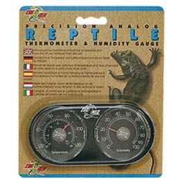 Zoo Med: Analoges Präzisions Thermometer und Hygrometer